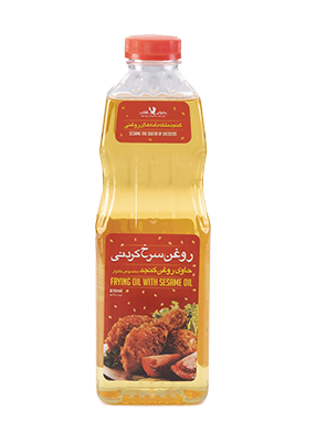 Transparent frying oil containing sesame oil